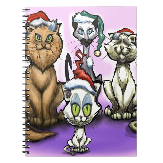 Cats Christmas Hats Notebook
