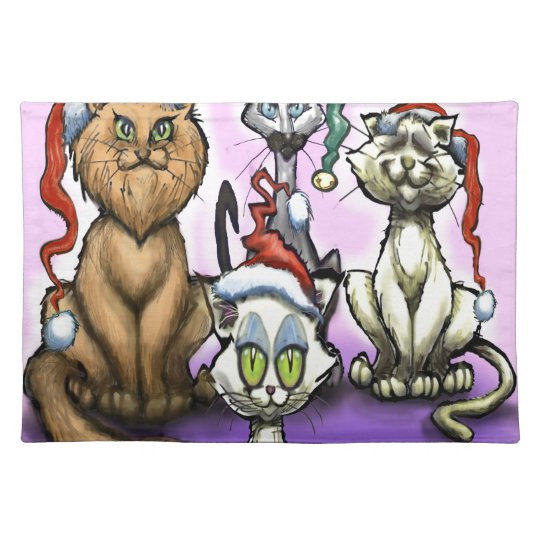 Cats Christmas Hats Placemat