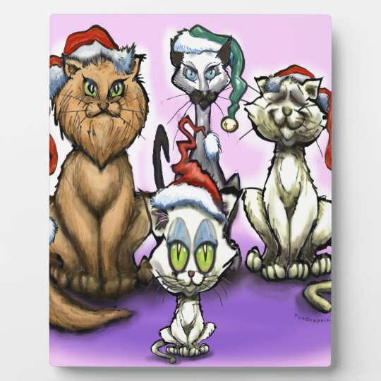 Cats Christmas Hats Plaque