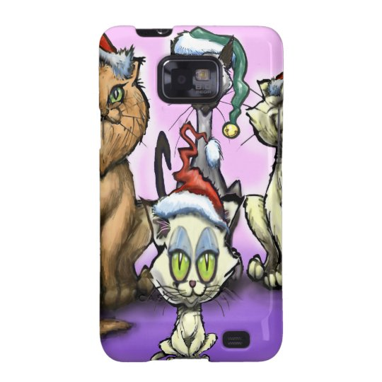 Cats Christmas Hats Samsung Galaxy S2 Cases