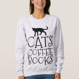 CATS COFFEE BOOKS, Cat T-shirts & sweatshirts