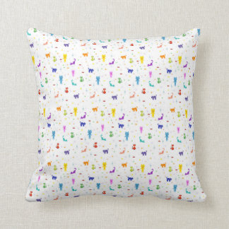 Cats colorful pattern texture cushion