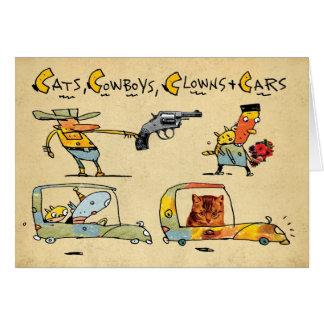 Cats, Cowboys, Clowns & Cars Card