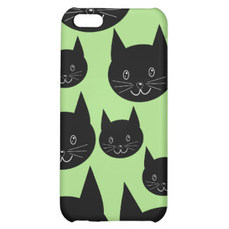 Cats Design in Black and Green. iPhone 5C Case
