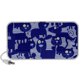 Cats - Dogs and Mice in Blue Notebook Speaker
