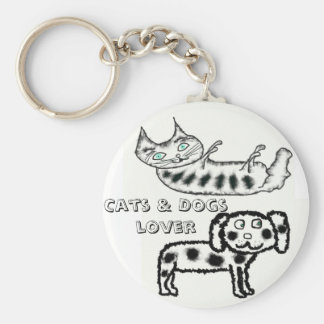 Cats & Dogs lover Key Ring