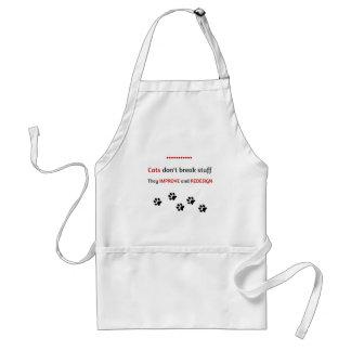 Cats don't break stuff standard apron
