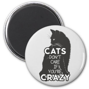 Cats Don't Care if You're Crazy Magnet