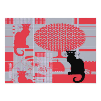 Cat's Dream 13 Cm X 18 Cm Invitation Card
