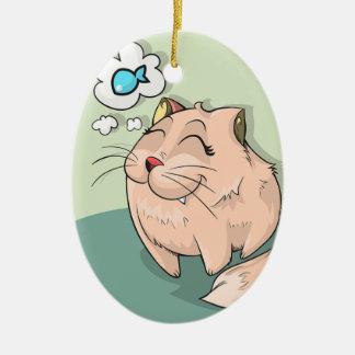 Cats Dream Ceramic Oval Decoration