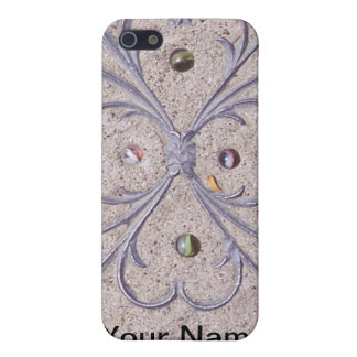 Cats Eye Marbles Scrollwork in Cement iPhone 5 Case
