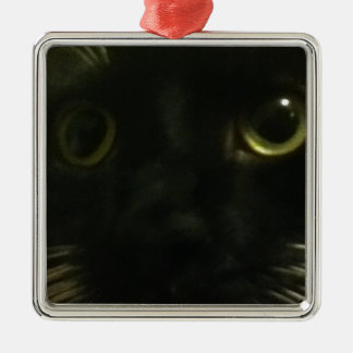 Cat's Face Christmas Ornaments