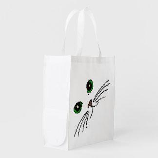 Cat's Face Reusable Grocery Bag