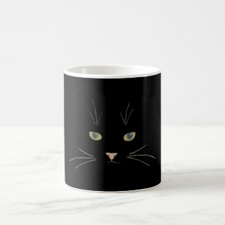Cat's face with eyes, nose and whiskers coffee mug
