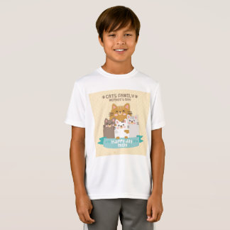 Cats Family Mother's Day Happy Day Mom T-Shirt