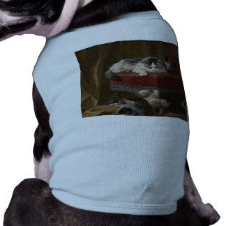 Cats family painting sleeveless dog shirt