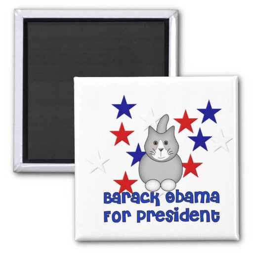 Cats For Obama Magnet