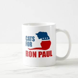 CATS FOR RON PAUL MUGS