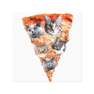 Cats For the Pizza-Lover Canvas Print