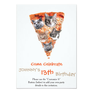 Cats For the Pizza-Lover Card