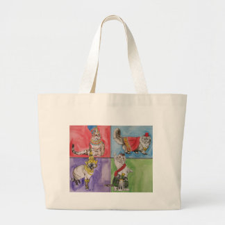 Cats from Around the World Large Tote Bag