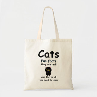 Cats Fun Facts They're Evil Tote Bag