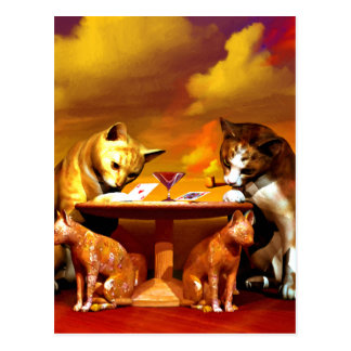 Cats game post card