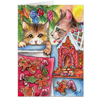 Cats & Gingerbread Cookies Card
