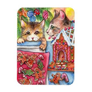 Cats & Gingerbread Cookies Magnet