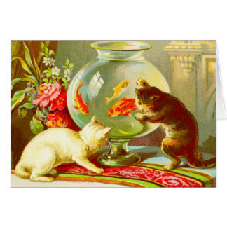 Cats Going Fishing Card