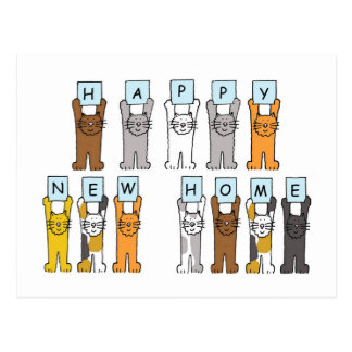 Cats Happy New Home Postcard