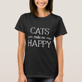 Cats Happy T-Shirt (Various Colors & Styles)