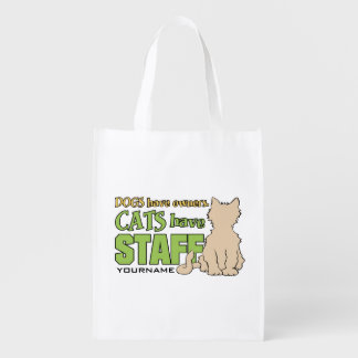 CATS HAVE STAFF custom reusable bag