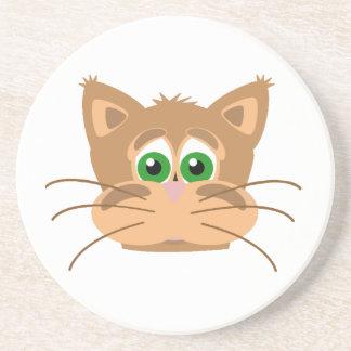 Cat's Head Drink Coaster