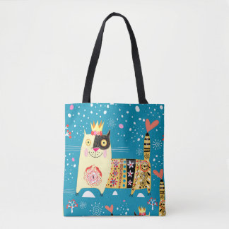 Cats, Hippie, Bohemian, and free spirit cats Tote Bag