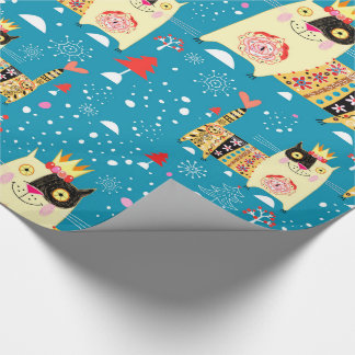 Cats, Hippie, Bohemian, and free spirit cats Wrapping Paper