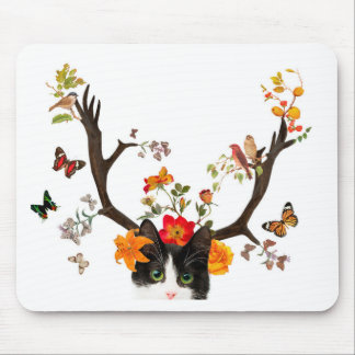 Cat's Horns Mouse Pad