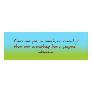 cats humorous quotation bookmark pack of skinny business cards