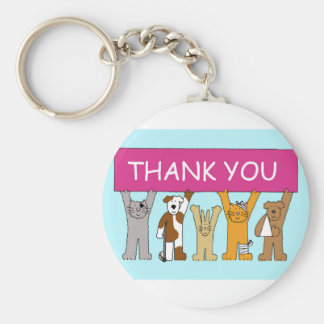 Cats in bandages, thanks to vet. key ring