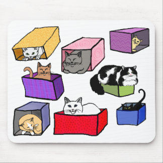 Cats in Boxes Mousepad