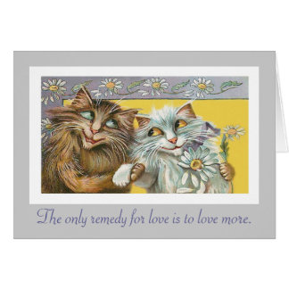 Cats in Love and Thoreau Quote Card