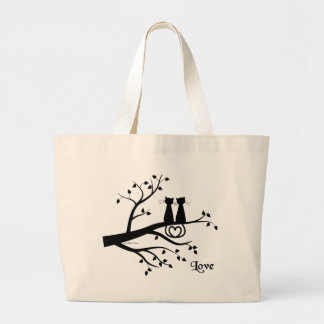 Cats in Love Large Tote Bag