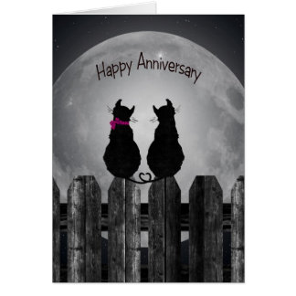 Cats in Moonlight for spouse Card