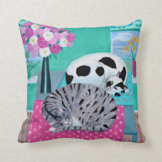 Cats in Spring Cushion
