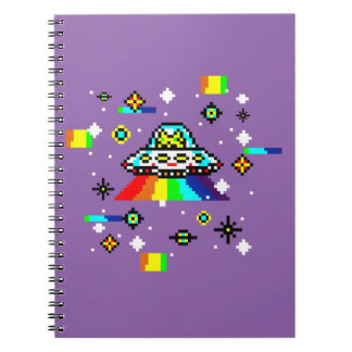Cats invaders spiral notebook