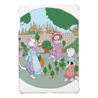 Cats Kittens and Carrots iPad Mini Cover