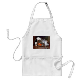 Cats Kittens Fishing in a Fish Bowl painting Standard Apron