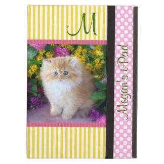 Cats, Kittens, Pink, Yellow, Stripes, Polka Dots Case For iPad Air