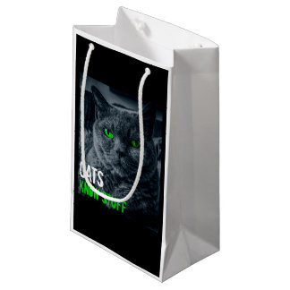 Cats Know Stuff Small Gift Bag