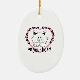 CATS LEAVE PAW PRINTS CHRISTMAS TREE ORNAMENTS